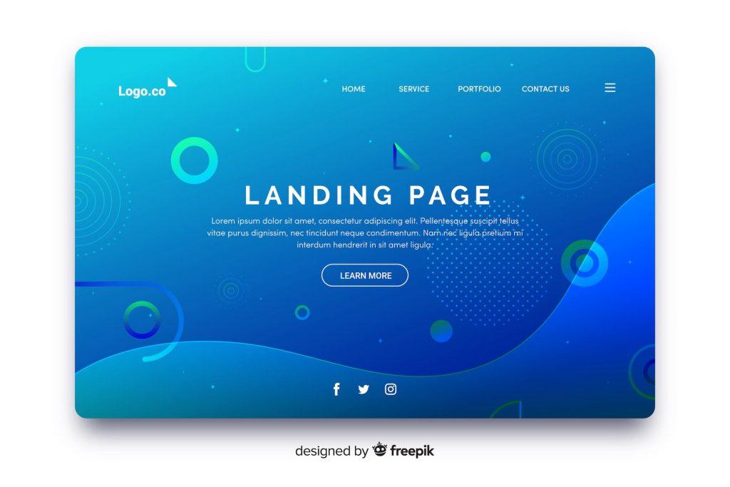 ce este un landing page