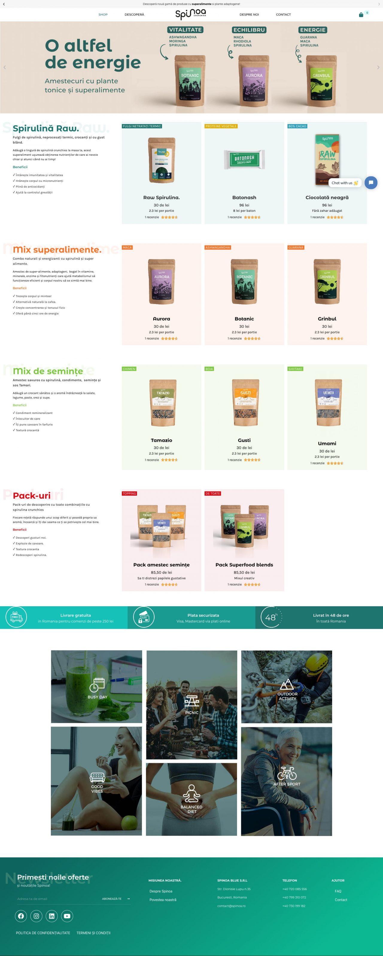 magazin online spirulină